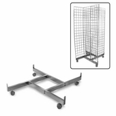 Gridwall 4-Way Pinwheel Base w/Casters