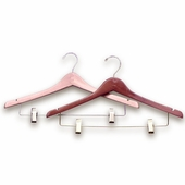 Contoured Wood Combination / Suit Hangers (Box of 100)