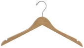 Wood Flat Shirt / Dress Hanger  (Box of 100)
