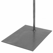 Aaron Contemporary Raw Steel Rectangular Base