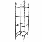 Aaron Contemporary Etagere with Glass Shelves