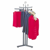 Aaron Contemporary 3 Way Garment Rack with Base and Inserts