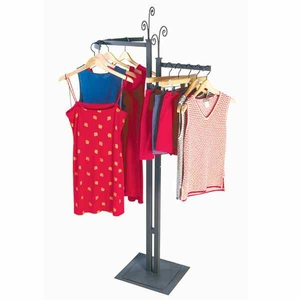 Aaron Contemporary 2 Way Garment Rack with Base and Inserts