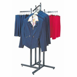 Aaron Contemporary 4 Way Garment Rack with Base and Inserts