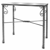 Aaron Contemporary Display Table with Glass Top