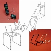Acrylic Display Easels & Cell Phone Easels