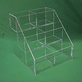 Acrylic Double Wide Tierred Display Bins