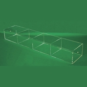 Acrylic 7-1/4in. Compartment Extra-Large Tray