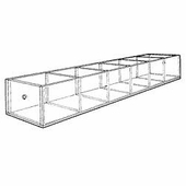 Acrylic 4-3/4in. Compartment Extra-Large Tray