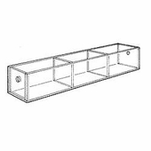 Acrylic 3-3/4in. Compartment Narrow Tray