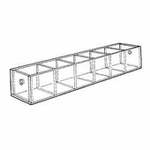 Acrylic 1-3/4in. Compartment Narrow Tray