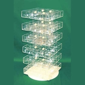Acrylic Multistory Display Bins 6 Tier