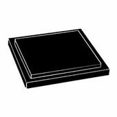 Black Rectangular Acrylic Base for Box Cases