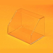 Rectangular Angled Front Acrylic Display Case without Base