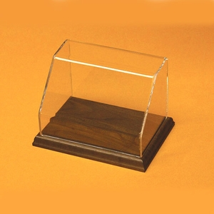Rectangular Angled Front Acrylic Display Case with Base