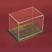 Rectangular Acrylic Display Case with Hardwood Base