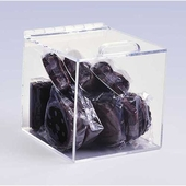 Square Acrylic Box with Hinged Lid