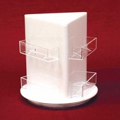 Acrylic Revolving Multi-Pocket Business Card Holders