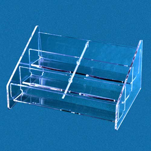 Acrylic countertop multiple business card holder reheart Gallery