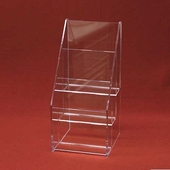 Acrylic Deluxe Multi-Tiered Greeting Card Holder