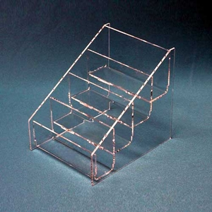 Acrylic Deluxe Multi-Tiered Postcard Holder