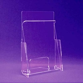 Acrylic Hold-Down Style Brochure Holders
