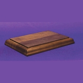 Solid Walnut Rectangular Bases