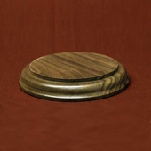 Solid Walnut Round Bases