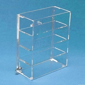 Small Acrylic Straight Front Sliding Back Locking Cases