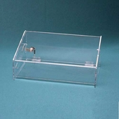 Acrylic Double Hidden-Tray Jewelry Case