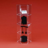 Acrylic Hexagonal 24in. Tall Display Cases
