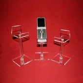 Quick Ship Acrylic Cell Phone Pedestal Easels (Set of 3)