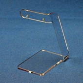 Short Single Earring Pair Display with Bent Bar Top