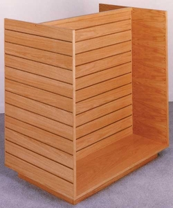 Real Wood Double-Sided Slatwall H-Unit