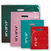 Plastic Low Density Die Cut Handle Merchandise Bags