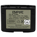 Empire BLI-FNB80 1500mAh 7.4V Replacement Lithium Ion (Li-Ion) 2-Way Radio Battery for Vertex/Yaesu