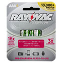 Rayovac Platinum PL724-4A AAA 750mAh 1.2V Nickel Metal Hydride (NiMH) Button Top Batteries - 4 Piece Retail Card