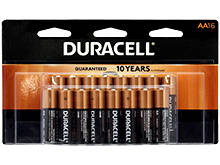 Duracell Coppertop Duralock MN1500-B16 AA LR6 1.5V Alkaline Button Top Batteries - 16 Piece Retail Card