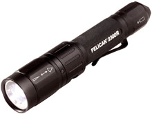 Pelican 2380R USB Rechargeable Tactical LED Flashlight - 305 Lumens - Uses 1 x 18650 (Included) or 2 x CR123As