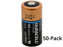 Duracell Ultra DL123A (50PK) CR123A 1470mAh 3V Lithium Primary (LiMNO2) Button Top Photo Batteries - Box of 50