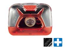 Petzl ZIPKA LED Headlamp with Retractable Cord - 200 Lumens - Includes 3 x AAA - Red