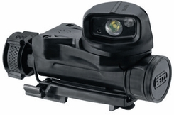 Petzl Tactical STRIX VL Multi-Mount LED Headlamp - White, Red, Green and Blue LEDs - 40 Lumens - Includes 1 x AA/LR6 - Black (E90AHB)