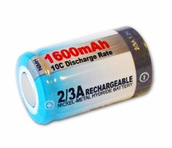 Tenergy 10710 2/3 A 1600mAh 1.2V High-Discharge 9C-12C Nickel Metal Hydride (NiMH) Flat Top Battery - Bulk