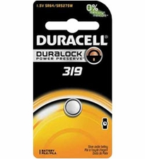 Duracell D319 1.5V Silver Oxide Watch/Electronic Button Cell Battery - 1pk (D319BPK)