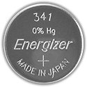 Energizer 341VZ SR714SW (8000PK) 15mAh 1.55V Silver Oxide (Zn/Ag20) Coin Cell Batteries - Case of 8000
