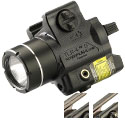 Streamlight TLR-4 G Compact LED Weapon Light with Green Laser - Rail Locating Key Kit Fits Most Handguns or H&K USP Mounts - 125 Lumens - Includes 1 x CR2