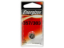 Energizer 357/303 148mAh 1.55V Silver Oxide Coin Cell Watch Battery - 1 Piece Blister Pack - Mercury Free