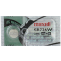 Maxell SR726W 396 28mAh 1.55V Silver Oxide Button Cell Battery - Hologram Packaging - 1 Piece Tear Strip, Sold Individually