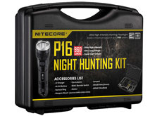 Nitecore P16 960 Lumen LED Flashlight Night Hunting Kit with GM02 Weapon Mount, RSW1 Pressure Switch, NFR60 Red Filter, NFG60 Green Filter - Fits Picatinny Railed Guns