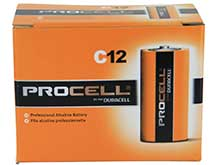 Duracell Procell PC1400 (12PK) C-cell 1.5V Alkaline Button Top Batteries - Contractor Pack of 12